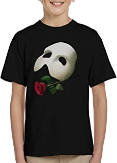 The Phantom Of The Opera Mask & Rose Kid's T-Shirt