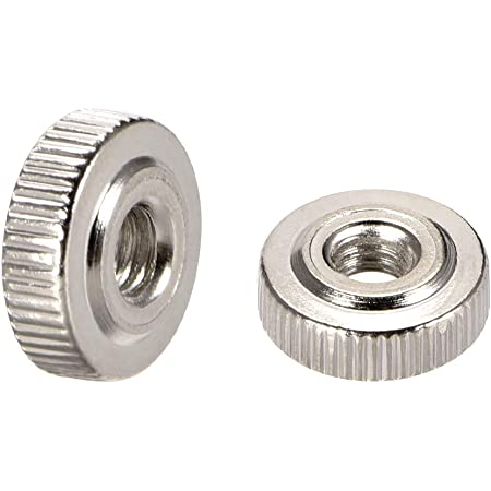 M4 Round Knobs with Collar Pack of 10 Zinc Plating uxcell Knurled Thumb Nuts