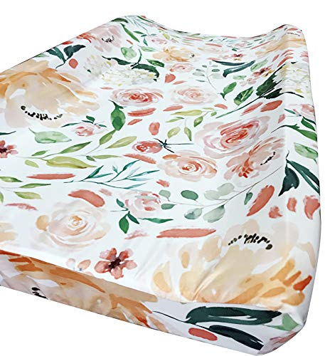 Baby Girl Crib Bedding Floral Changing Pad Cover (Secret Garden)