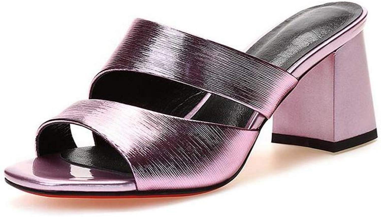 GHFJDO Pantoletten, Damen High Heel Fetisch Kinky Platform Stripper Sexy Lap Pole Schuhe, Block Sandalen
