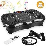 AGM Vibrationsplatte, Schwingungsplatte, 3D-Vibrationsplatte, Fitness-Zubehör, Massagegerät, schnelles Gewichtsverlust, 150 kg, Fernbedienung, 2 Widerstandsbänder und Bluetooth, schwarz 2