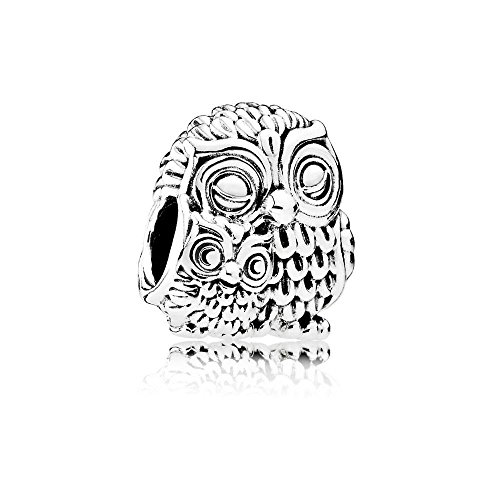 Pandora Moments Mutter Eule und Baby Eule Charm Sterling Silber 791966