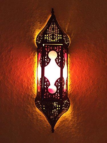 Orient indische Wandleuchte Lampe Appsara pink