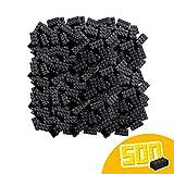 Simba 104118935, Blox, 500 schwarze Bausteine für Kinder ab 3 Jahren, 8er Steine, im Karton, mit Füllbecher, vollkompatibel mit vielen anderen Herstellern
