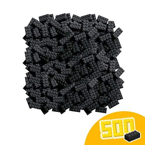 Simba 104118935 Blox, 500 schwarze Bausteine Made in Italy, 8er Steine, im Karton, incl. Füllbecher, höchste Qualität und 100 Prozent kompatibel mit bekannten Spielsteinen