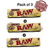 OutonTrip Pack of 3 Raw Organic Slim 32 Leaves King Size/Kings Smoking/ Ocb Rolling Paper (White)