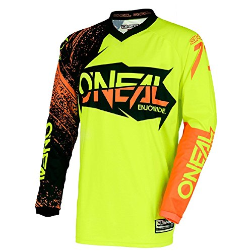 O'NEAL Element Burnout FR Jersey Trikot lang gelb/schwarz/orange 2018 Oneal: Größe: XL (56/58)