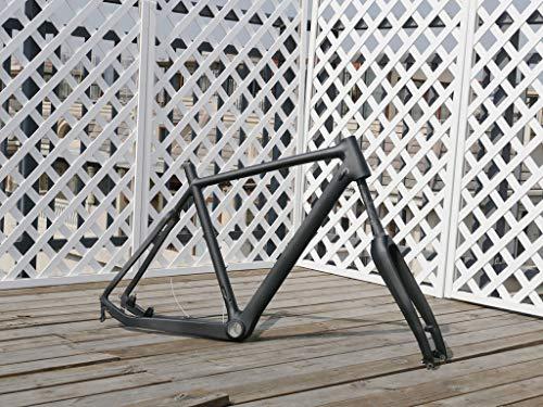 UD - Telaio per bici da ciclocross in carbonio lucido da 55 cm, telaio trasversale per BB30 + forcella da ciclismo