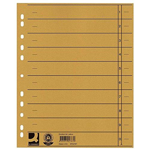 Q-Connect KF02787 Trennblätter - A4 Überbreite, 100 Stück gelb