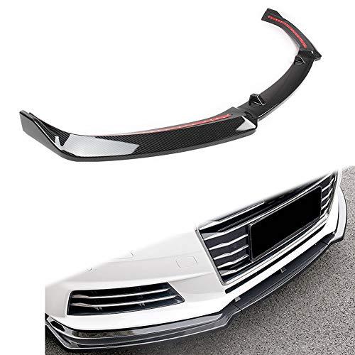 GZYF Frontspoiler Spoiler Frontschürze Lippenspoiler Splitter Kompatibel mit A4 B9 S4 Limousine 4-DR 2017-2018 (aggressives Modell), stilvolle Carbon-Optik