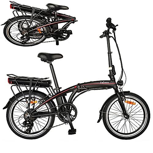 Bicicleta Eléctrica Plegable de 20 Pulgadas con Pedales, Bicicleta Eléctrica 250W 36V...