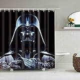 XINJIU Star Wars - Cortina de ducha creativa con 12 ganchos de 180 x 180 cm