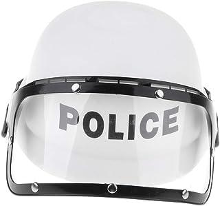 Baosity Kids Police Riot Helmet, Cop Motorcycle Visor Hat Fancy Dress Pretend Play