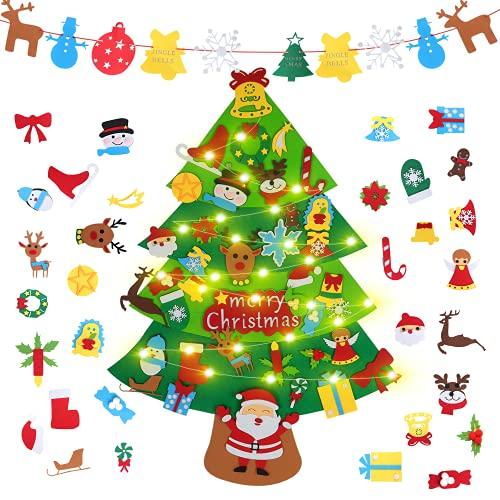 DWcouple Fieltro Árbol de Navidad, Árbol de Navidad DIY con 37 pcs...