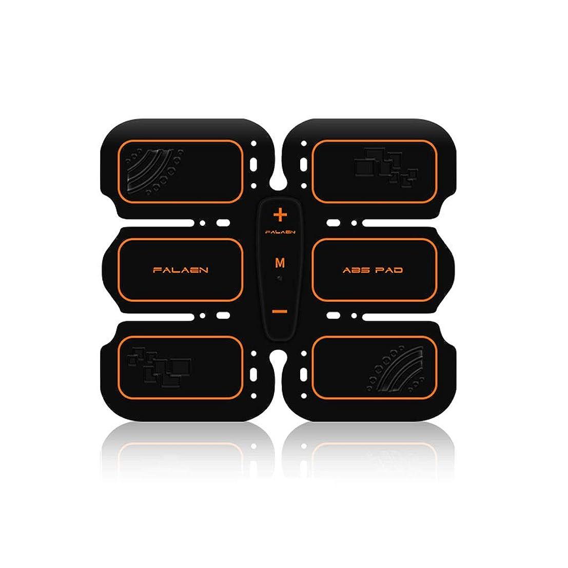 成長ロッジ最大EMS腹筋トレーナー筋肉刺激ベルト、リズムと充電式腹部筋肉トナーベルト男性と女性のためのソフトインパルスモードデザイン (Size : Abdominal stickers)