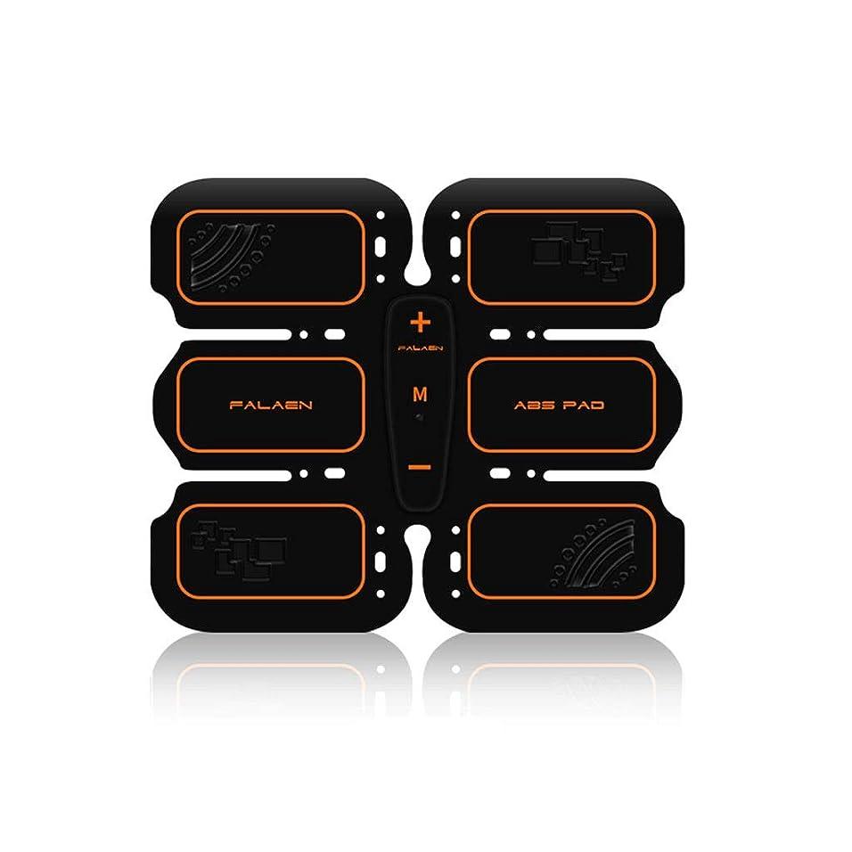 通訳ファックスに勝るEMS腹筋トレーナー筋肉刺激ベルト、リズムと充電式腹部筋肉トナーベルト男性と女性のためのソフトインパルスモードデザイン (Size : Abdominal stickers)