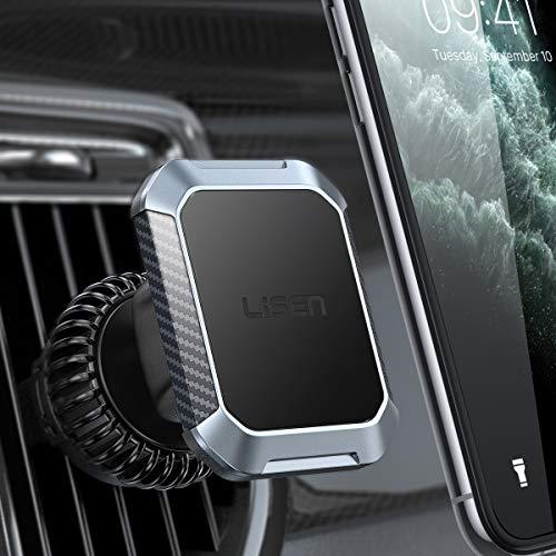 LISEN Handyhalterung Auto Magnet, [6 Starke Magnete] Magnethalter Handy Auto [Upgraded Haken CLAMP] Magnet Handyhalterung fürs Auto [Vertikal & horizontal] KFZ Handyhalterung Magnet Für Alle Telefone