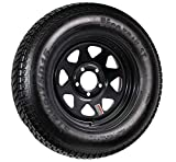 Eco Trailer Tire On Rim ST205/75D15 15 in. Load C 5 Lug Black Spoke Wheel