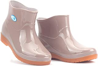 Xinantime Elastic Non-Slip On Short Rain Boots Women's Quick Drying Aqua Shoes Low-Heeled Round Toe Shoes