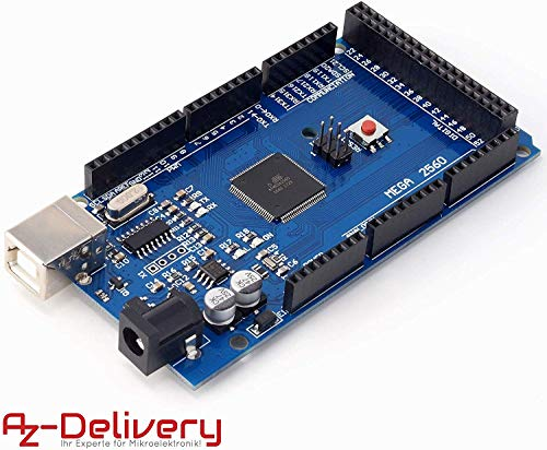 AZDelivery Mega 2560 R3 Board con ATmega2560, 100% Arduino Compatibile con eBook