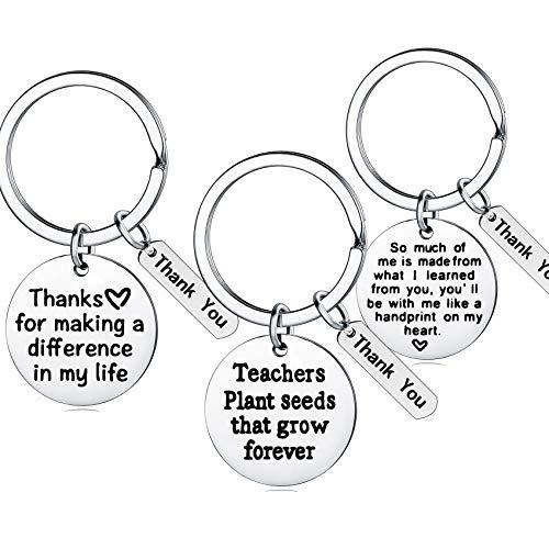 Teacher Appreciation Gift for Women, 3PCs Teacher Keychain Set, Jewelry Gift for Teachers, Birthday Gift for Teacher Gifts from Students (3PCs Mixed #1)