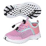 SAGUARO Zapatos de agua para niños, de secado rápido, de malla, color Rosa, talla 34 EU