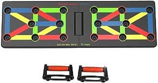JUNERAIN 9 en 1 Push Up Rack Sistema de Tabla de Ejercicios Fitness Entrenamiento Entrenamiento Gimnasio Ejercicio Stands