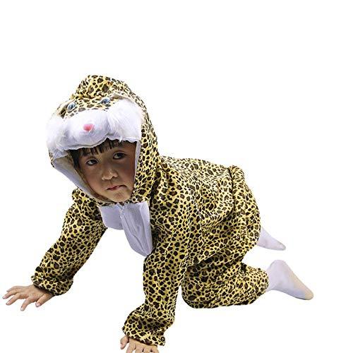 SHOUSBOXHI Holiday Halloween Dieren Jumpsuit voor Jongen Meisje Dress up Kinderen Dieren Cosplay Kostuum Dinosaur Tijger Olifant, 150, Flower cat