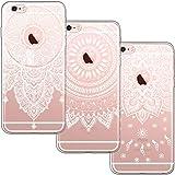 [3 Pack] Funda iPhone 6, Funda iPhone 6S, Blossom01 Funda Ultrafina Suave Funda de Silicona TPU con Linda Caricatura Para iPhone 6 / iPhone 6S - 3 * Mandala