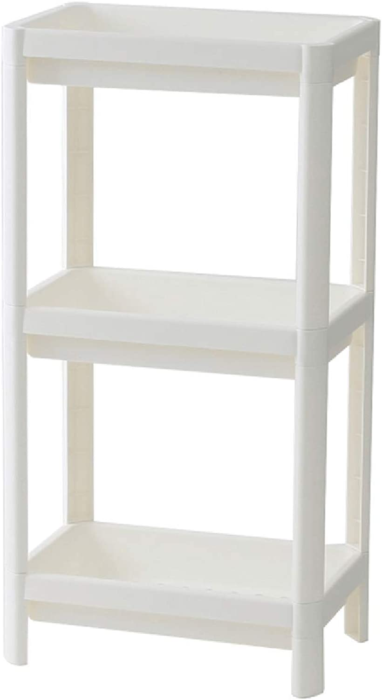 Floor Stand Shelf, Multi-Layer Drainage Plastic Rack, Bathroom Storage Rack, Kitchen Storage Rack, White Multi-Function Optional (Size   Three Floors)