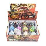 Yeelan 12pcs Huevos de Dinosaurio Dino Dragon Hatching Growing Hatch Grow Egg for Kids/Niños pequeños/Educación Infantil/Escolar (Tamaño de un Huevo: 5x7cm/2x2.8 ',Color Surtido)