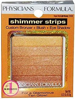 Physicians Formula Shimmer Strips Custom Bronzer, Blush and Eye Shadow, Vegas Strip/Light Bronzer 2456