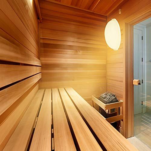 Bicaquu Saunalampe, Saunabeleuchtung, Anti-Fog-Helligkeit aus Kunststoff Explosionsgeschützte Saunalampe Langlebig für Badezimmer