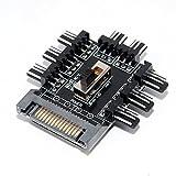 Digitalkey Fan Hub PWM con Control de Velocidad - Ventiladores de alimentación SATA HUB x8 Fan