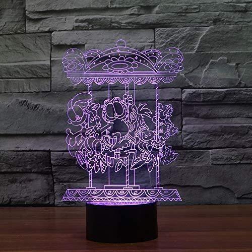 GOXJNG Lámpara de la ilusión óptica 3D Noche de la lámpa
