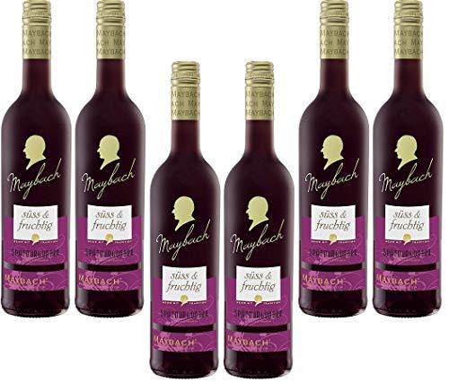 Maybach Spätburgunder Rotwein süß und fruchtig(6 x 0.75 l)