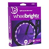 Wheelbrightz LED Bicycle Wheel Lights, Purple  For 1 Wheel  Bright, Colorful Light for Bikes  Fits Front or Rear Tire  Weather-Resistant Tube with Battery Pack  For all Ages  Kids, Teens, Adults