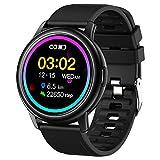 GAO-bo Smart Watch for Mujeres Hombres, recordatorio inteligente impermeable IP68, Push de información, Análisis de sueño, Dial masivo, 24 modos de ejercicios de alta eficiencia, Reloj de frecuencia c