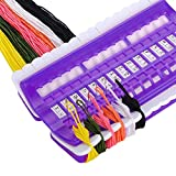 Onwon Embroidery Floss Organizer Plastic Foam 30 Positions Thread Organizers Cross Stitch Embroidery Kit Sewing Tool Embroidery Needlework Project Thread Holder 30 Hole Threader