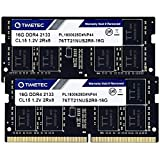 Timetec Hynix IC DDR4 2133MHz PC4-17000 Unbuffered Non-ECC 1.2V CL15 2Rx8 Dual Rank 260 Pin SODIMM Laptop Notebook Computer Memory Ram Module Upgrade (32GB(16GBx2))