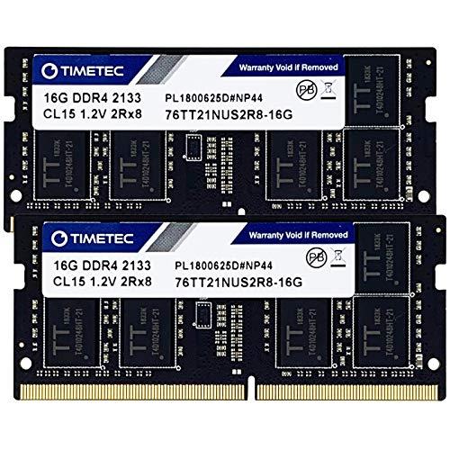 Timetec Hynix IC 32GB KIT(2x16GB) DDR4 2133MHz PC4-17000 Unbuffered Non-ECC 1.2V CL15 2Rx8 Dual Rank 260 Pin SODIMM Laptop Notebook Computer Memory RAM Module Upgrade (32GB KIT(2x16GB))