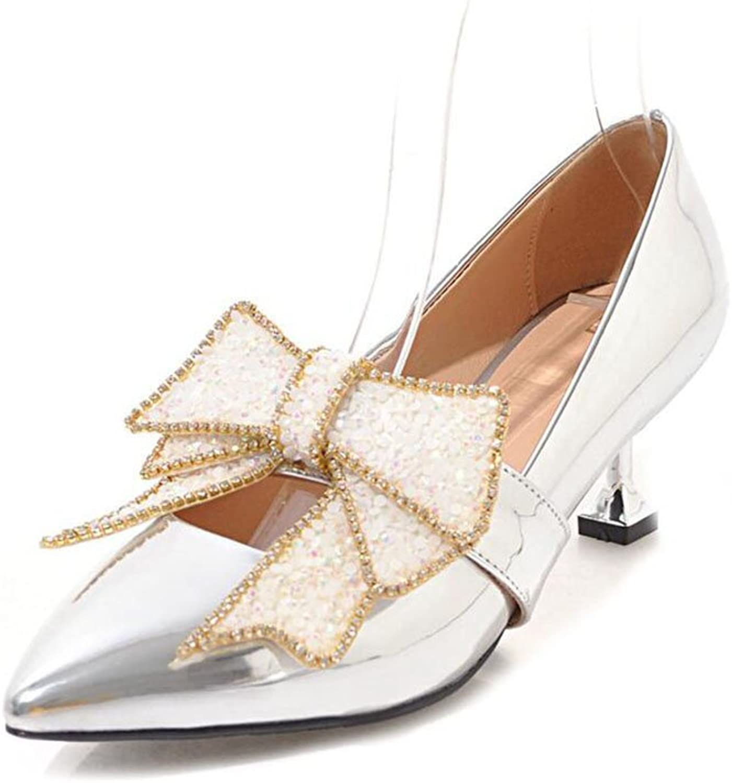 XUERUI Ms High Heels Stilettos Princess shoes Graduation Get Together 5.5cm Heel (color   2, Size   EU38 UK5.5 CN38)