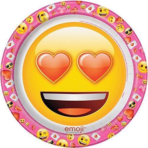 Emoji Valentijnsfeestartikelen Grote papieren platen Eén maat Meerkleurig