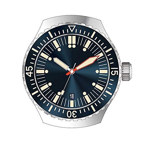 CQOQ Reloj De Manera Automático De Buceo Reloj del Deporte del Reloj De Acero Stainlss 200m Agua Bisel De Cerámica Resistente (Color : Blue Without Logo)