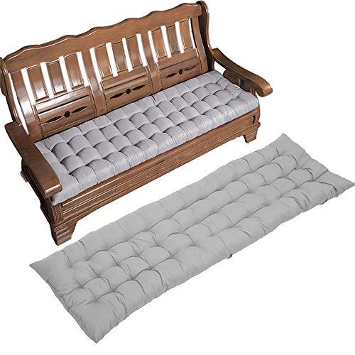 Sitzpolster für Gartenbank, 48 x 160 cm Bankauflage Bankkissen für Gartenbank Super weich und bequemes Bank Sitzpolster für Gartenschaukel Gartenmöbel...