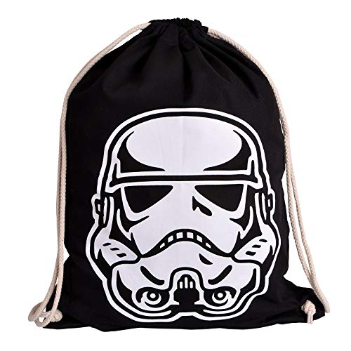 Star Wars Elbenwald Sportbag mit Stormtrooper Helm Frontprint 46 x 36 cm schwarz