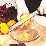 OnlyBP - Rallador cítricos, Rallador de Cocina para Cortar Verduras, Queso, trufa, cítricos…