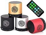 Mini altavoz digital FM broadcast, con mando a distancia de 18 recitadores y 15 traducciones, puede reproducir reproductor MP3 de 8 pulgadas, color negro