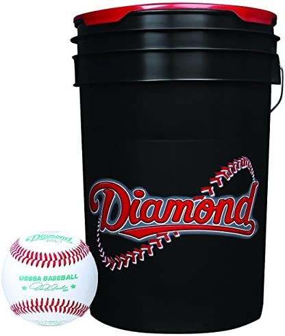 Diamond 6 Gallon Ball Bucket with 30 USSSA DOL 1 Baseballs product image