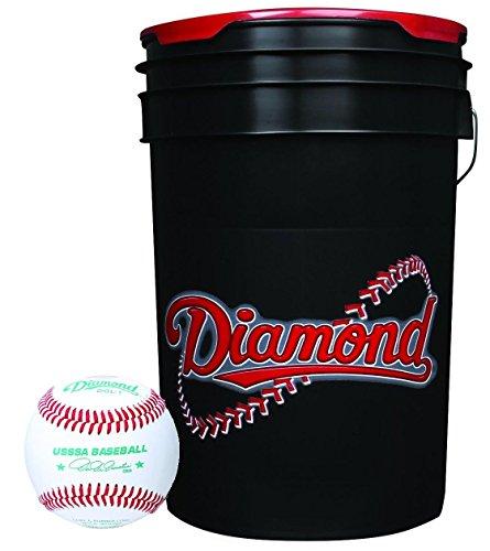 Collectible Supplies Diamond Sports 6-Gallon Ball Bucket with 30 USSSA DOL-1 Baseballs